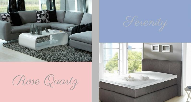wie style ich die pantone farben 2016. Black Bedroom Furniture Sets. Home Design Ideas